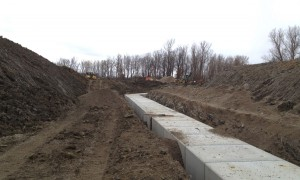 Box Culvert Installation Under Future 401 Parkway