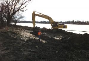 Canard Shoreline Excavation