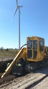 Trenching for High Voltage Cables (Wind Farm)