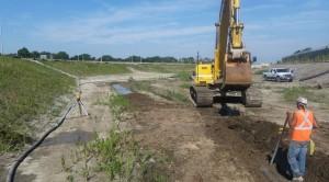 Base Flow Channel Excavation