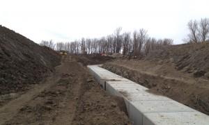 Box Culvert Installation Under Future 401 Parkway