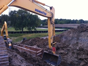 Culvert Installation Under Future 401 Parkway