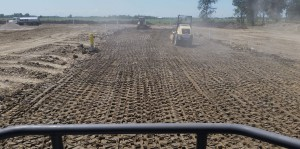 Road Base Material Compaction
