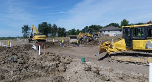 Road Excavation, Subdrain Installation and Granular Placement